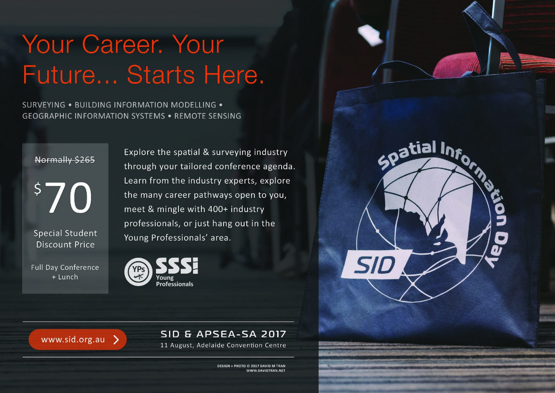 A poster design for the Young Professionals special interest group of the SSSI