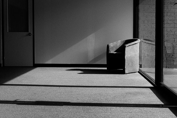 Photo of a chair in a deserted room